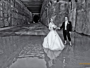 Hochzeitsbilder, Hain im Spessart, Wedding, Hochzeit, Tunnel, Wedding Photographer, Hochzeitsfotograf, Bahntunnel, After Wedding, Trash the Dress, Aschaffenburg, Heiraten